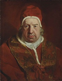 portrait of pope benedict xiv by pierre hubert subleyras