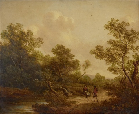 landscape with peasants by richard h hilder