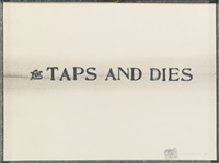 for taps and dies by edward kienholz