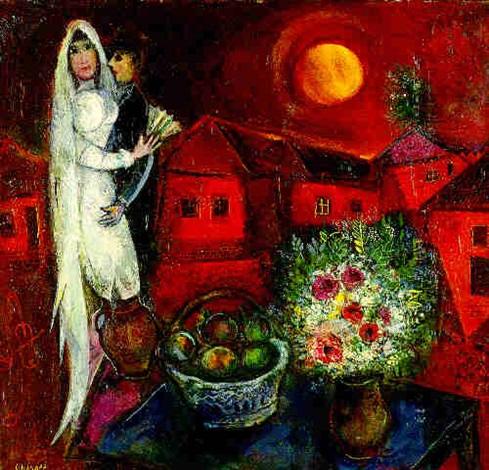 LA MARIEE AU COUCHER DE SOLEIL by Marc Chagall on artnet