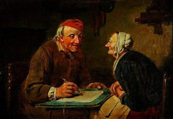le peintre by adrien ferdinand de braekeleer