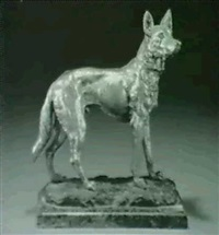 standing german shepherd by g. o. bailly