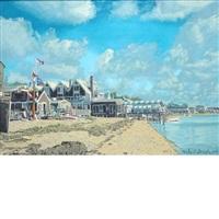 buildings on shore by michael joseph