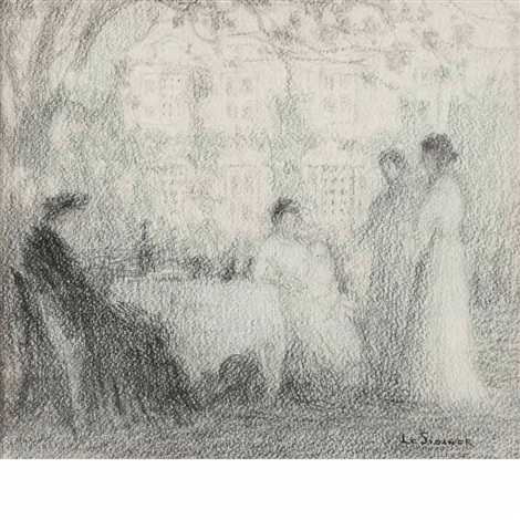 La table familiale gerberoy by henri le sidaner on artnet for Table familiale