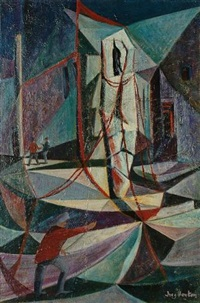 fishermen and boats by inez hoyton