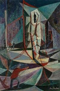 fishermen and boats by inez hoyton