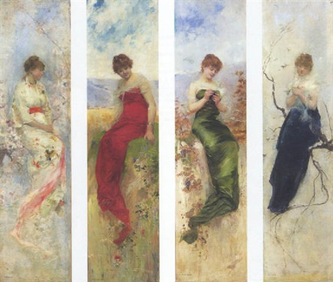 les quatres saisons by albert emile artigue