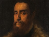 man in a fur trimmed coat by titian (tiziano vecelli)