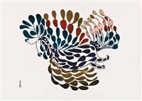 festive bird by pitseolak ashoona