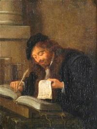 a scholar at work by jan miense molenaer