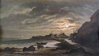 crépuscule sur la côte by r. t. stuart