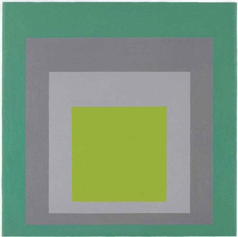 study for homage to the square spring starting by josef albers