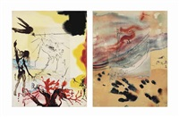 sigmund freud, moïse et le monothéisme, editions art & valeur s.a., paris, 1974 (set of 10) by salvador dalí