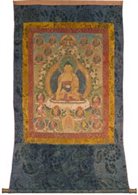 a thangka of shakyamuni buddha by anonymous-tibetan (18)