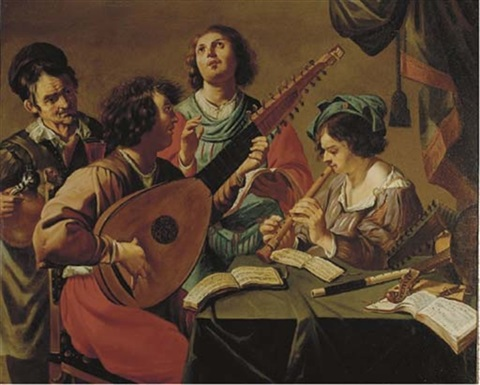 a musical party by theodoor rombouts