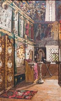 интерьер церкви. иконостас by petr ivanovich petrovichev