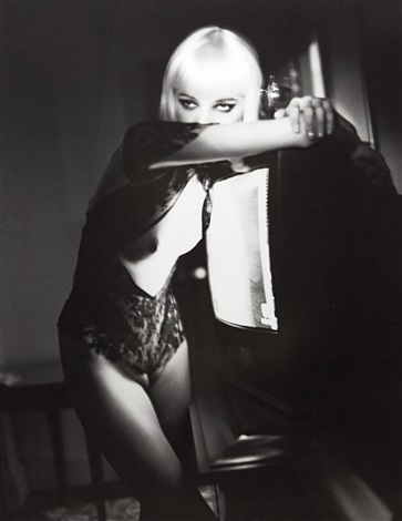 blonde and tv hotel gallia milan by helmut newton