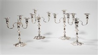 candelabra (set of 4) by j. b. chatterley and sons
