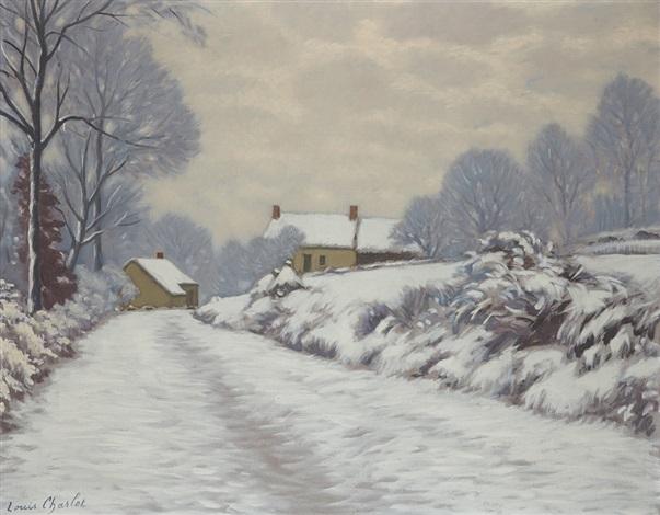 paysage de neige by louis charlot