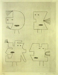 codex d'un visage ii by victor brauner