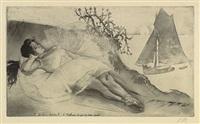 3eme acte, scéne 8 (from les petites de ballet series) by louis legrand