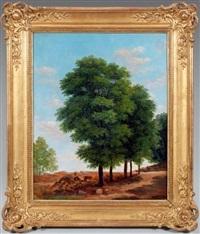 étude d'arbre (study) by jean victor bertin