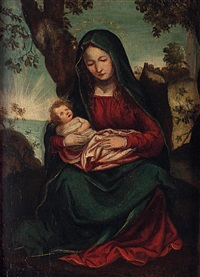 madonna mit kind in landschaft by flemish school (16)
