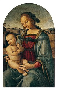 the madonna and child in a landscape by andrea di aloigi di apollonio da assisi