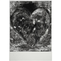 etching heart by jim dine