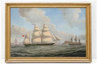 the mary hamilton under sail on the clyde by samuel holburn fyfe