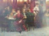 les amis au café by victor guerrier