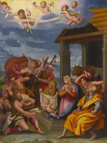 ladoration des bergers by alessandro di cristofano allori