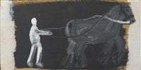 paard en boer by leon adriaans