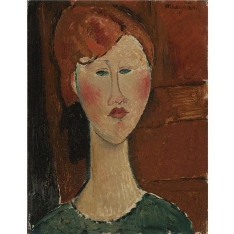femme aux cheveux rouges by amedeo modigliani