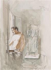 portrait of gordon in venice by john stanton ward