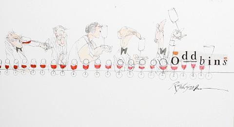 oddbins wine connoisseurs by ralph idris steadman