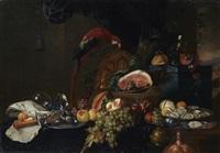 nature morte au perroquet by jan davidsz de heem