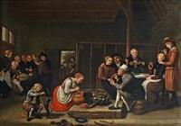 bauern in einer wirtsstube by jan victors