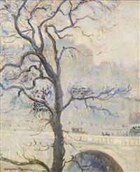 winter landscape by georges manzana-pissarro