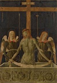 le christ au tombeau soutenu par deux anges by alesso di benozzo