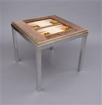 games table by willy rizzo