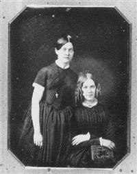 portrait of two sisters by montgomery p. simons