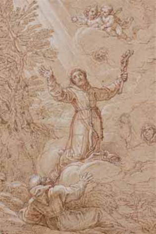 saint françois recevant les stigmates by michel corneille the younger