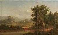 pastoral landscape by b. kreutzer