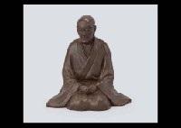 sitting figure of ryokan by choun yamazaki