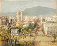 a cityscape from sofia by vladimir manski