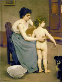 after the bath by louis courtat