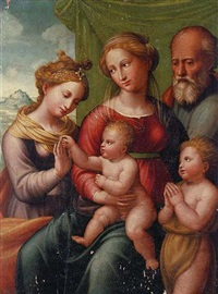 the mystic marriage of saint catherine with saint joseph and the infant saint john the baptist by innocenzo di pietro (da imola) francucci