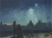 soldiers at dusk by vernon ward