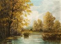 őszi folyópart by jános dunay